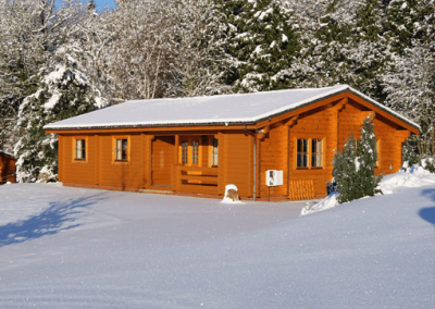 Tanglewood Lodge in the Snow