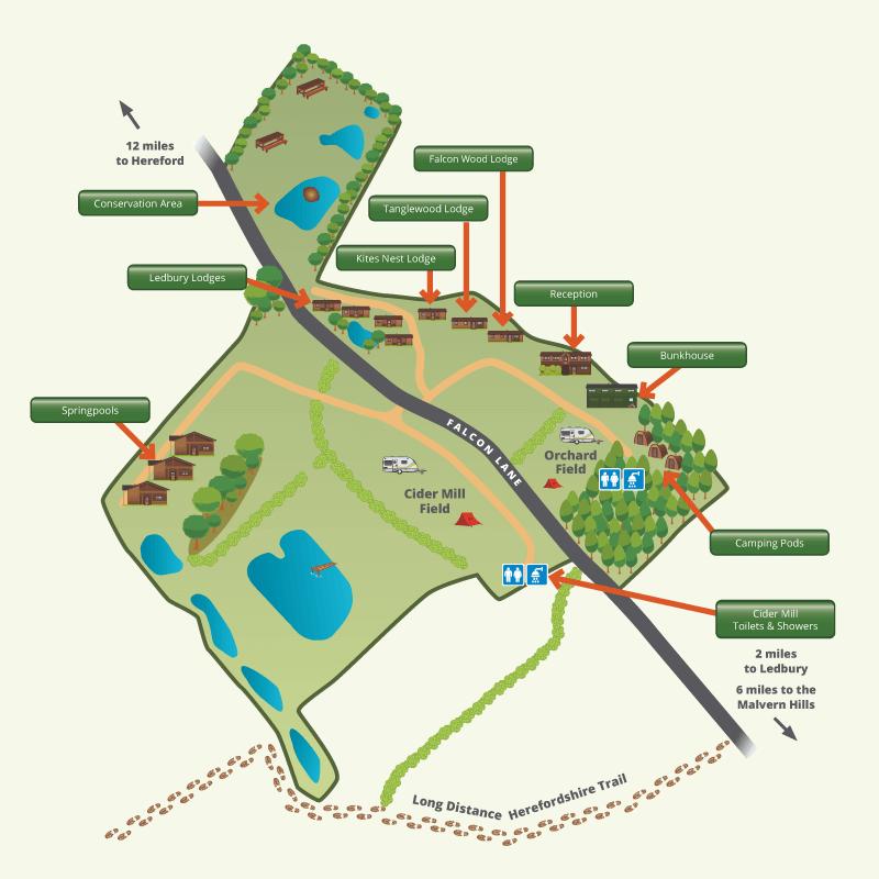 Website Site Map: Woodside Lodges Website